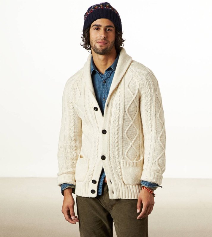 AE Cable Knit Cardigan | American Eagle Outfitters