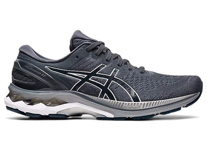 Men's GEL-KAYANO 27 | Carrier Grey/French Blue | Running Shoes | ASICS