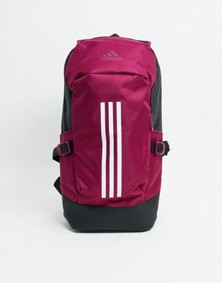 adidas backpack in burgundy   ASOS