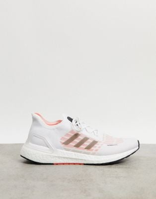adidas Ultraboost S.RDY in white black & solar red | ASOS