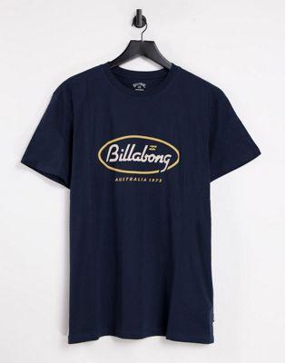 Billabong SS State Beach t-shirt in navy | ASOS