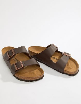 Birkenstock Arizona birko-flor sandals in dark brown