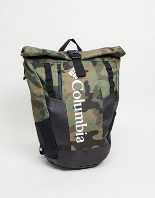 Columbia Convey 25L Rolltop backpack in camo | ASOS