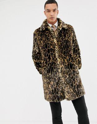 Devils Advocate Premium Faux Fur Snow Leopard Coat