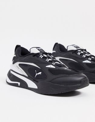 Puma RS-Fast trainers in black and white | ASOS
