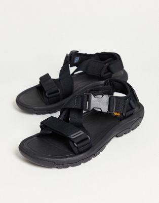 Teva Hurricane verge sandals in black | ASOS