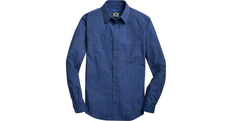 JOE Joseph Abboud Blue Check Sport Shirt - Men's Shirts | Men's Wearhouse