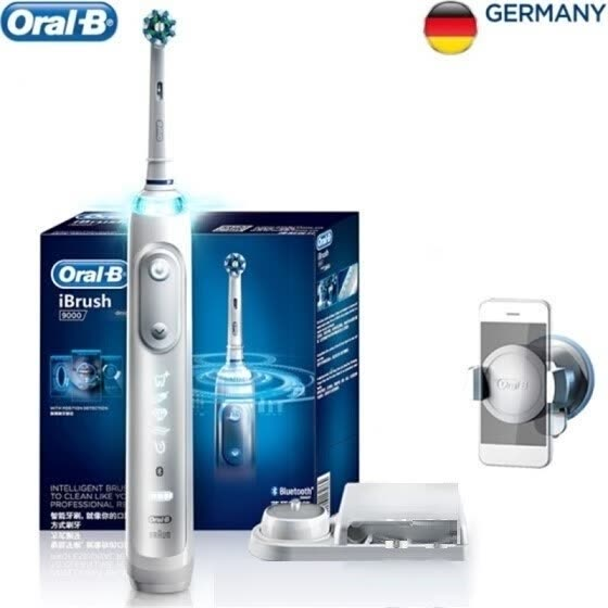 Shop BRAUN Oral-B iBrush9000 Smart Sonic Electric Toothbrush, White Online from Best Dental Oral Care on JD.com Global Site - Joybuy.com
